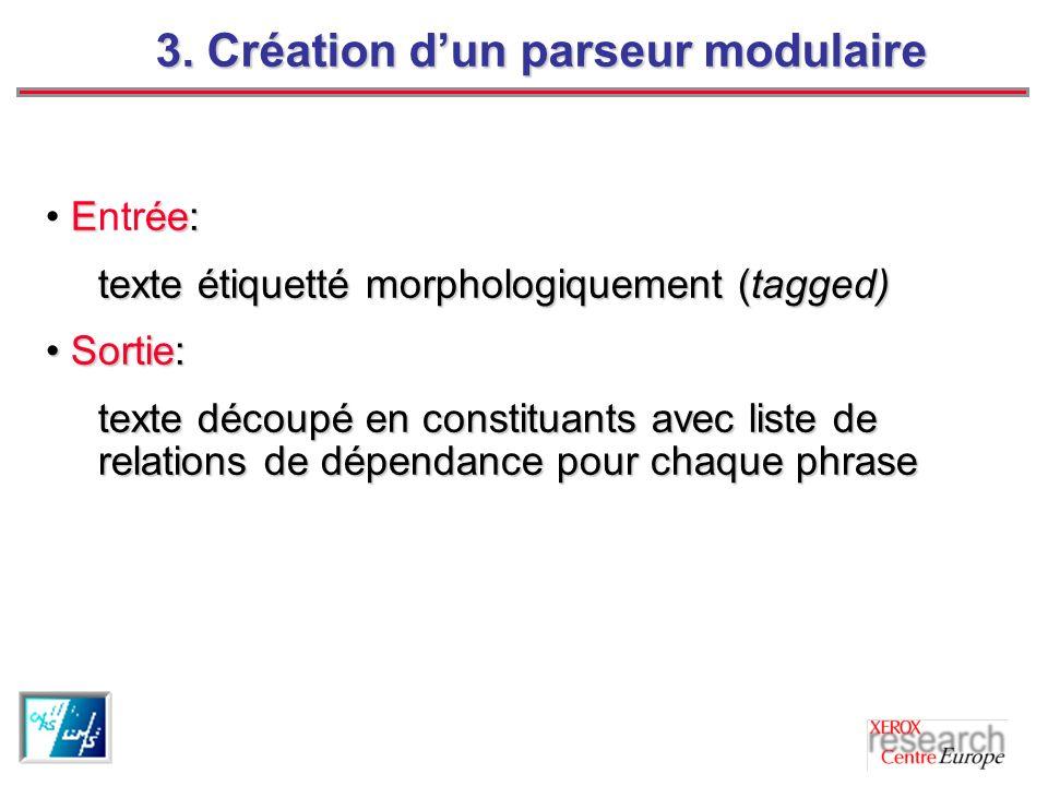 3. Création d'un parseur modulaire