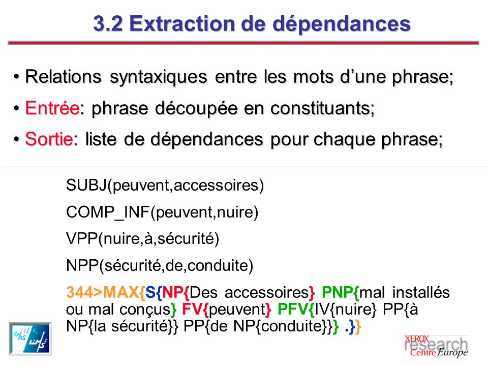 3.2 Extraction de dépendances