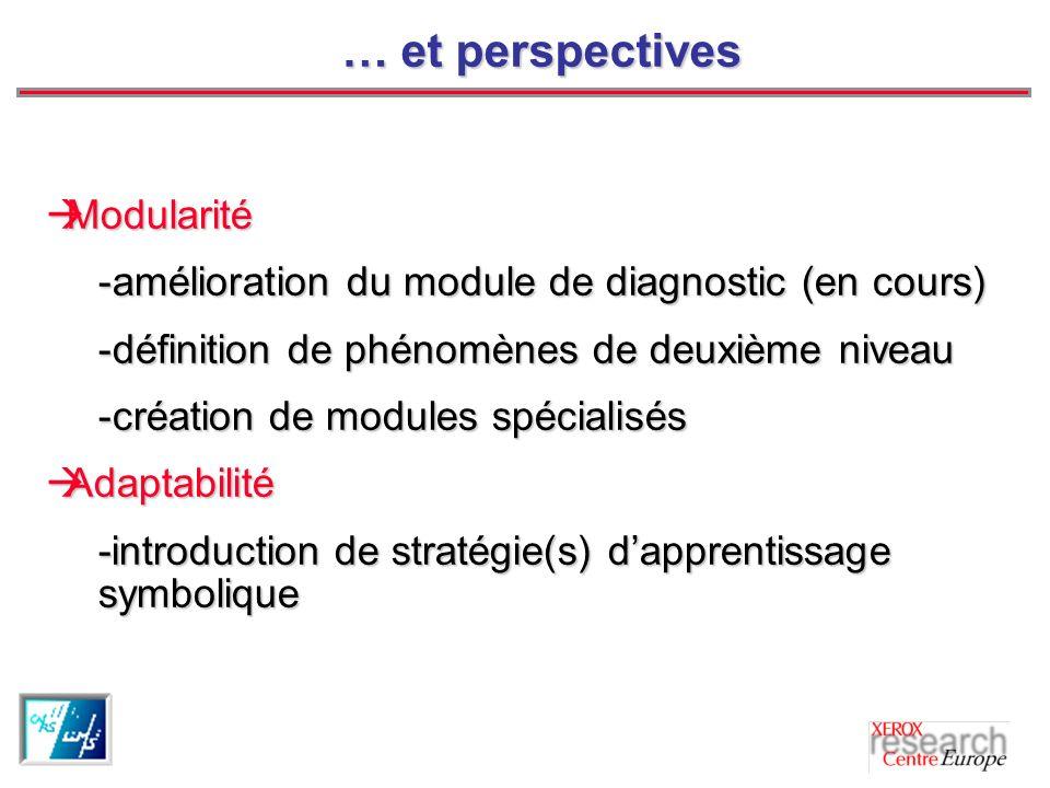 … et perspectives Modularité