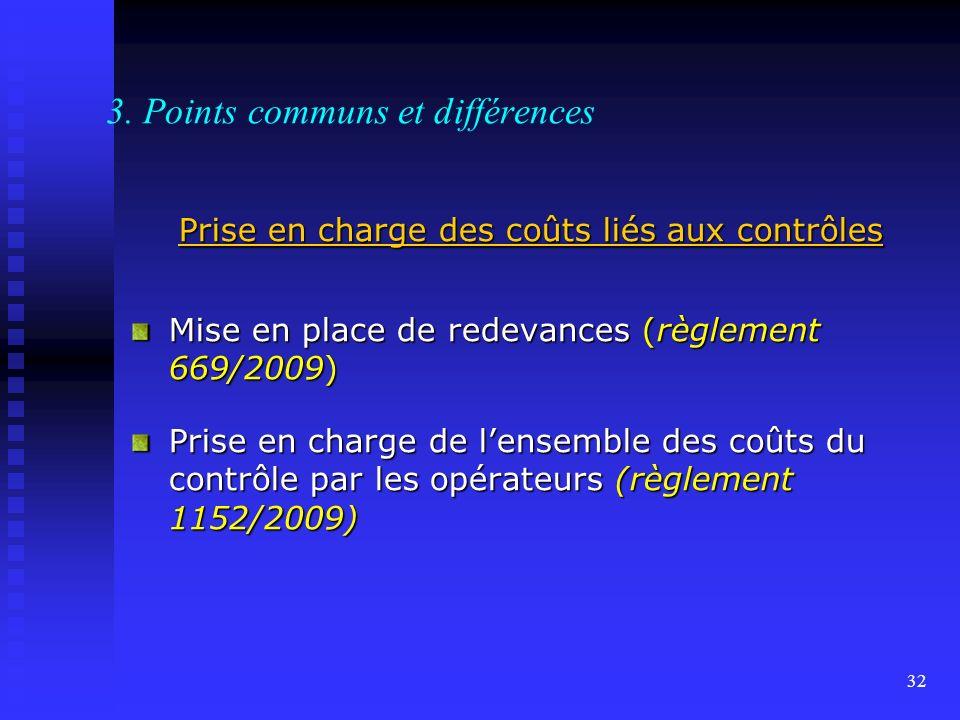 3. Points communs et différences