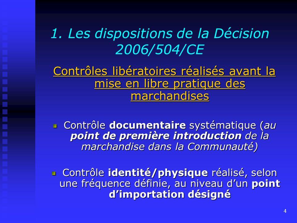 1. Les dispositions de la Décision 2006/504/CE