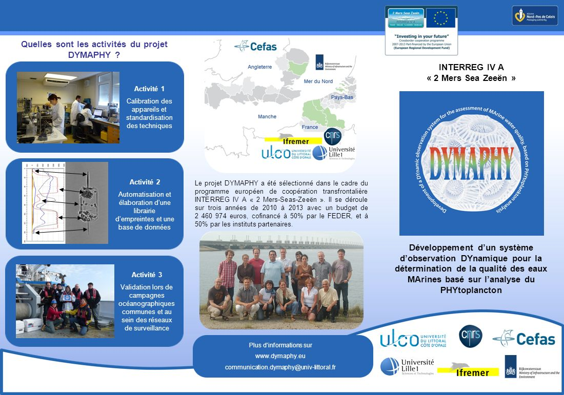 Quelles sont les activités du projet DYMAPHY
