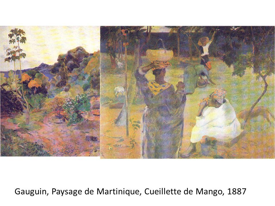 Gauguin, Paysage de Martinique, Cueillette de Mango, 1887