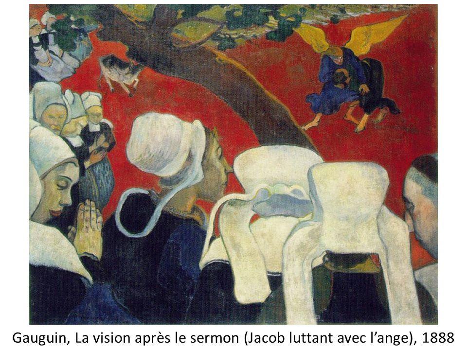 Gauguin, La vision après le sermon (Jacob luttant avec l'ange), 1888