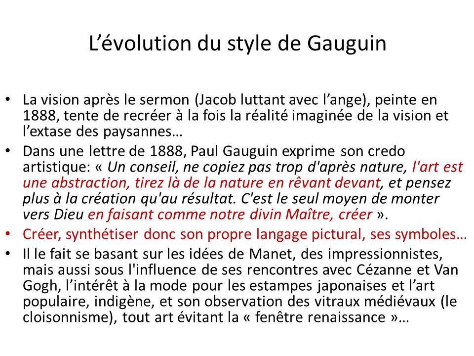 L'évolution du style de Gauguin