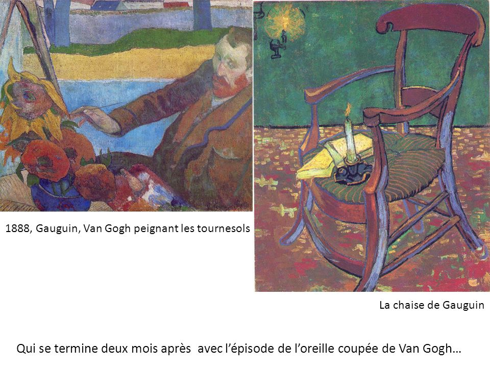 1888, Gauguin, Van Gogh peignant les tournesols
