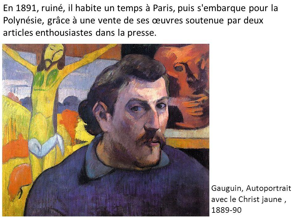 Gauguin, Autoportrait avec le Christ jaune , 1889-90