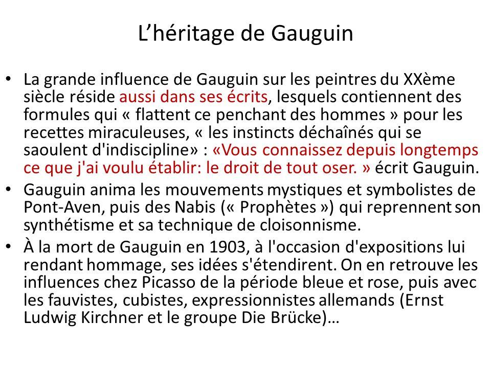 L'héritage de Gauguin