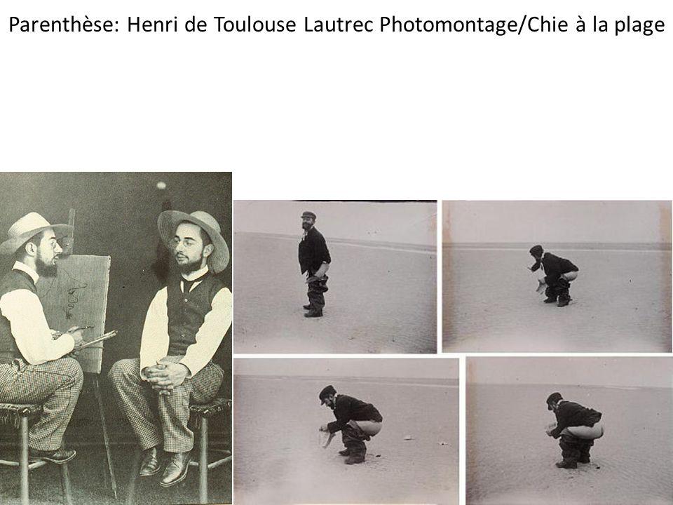 Parenthèse: Henri de Toulouse Lautrec Photomontage/Chie à la plage