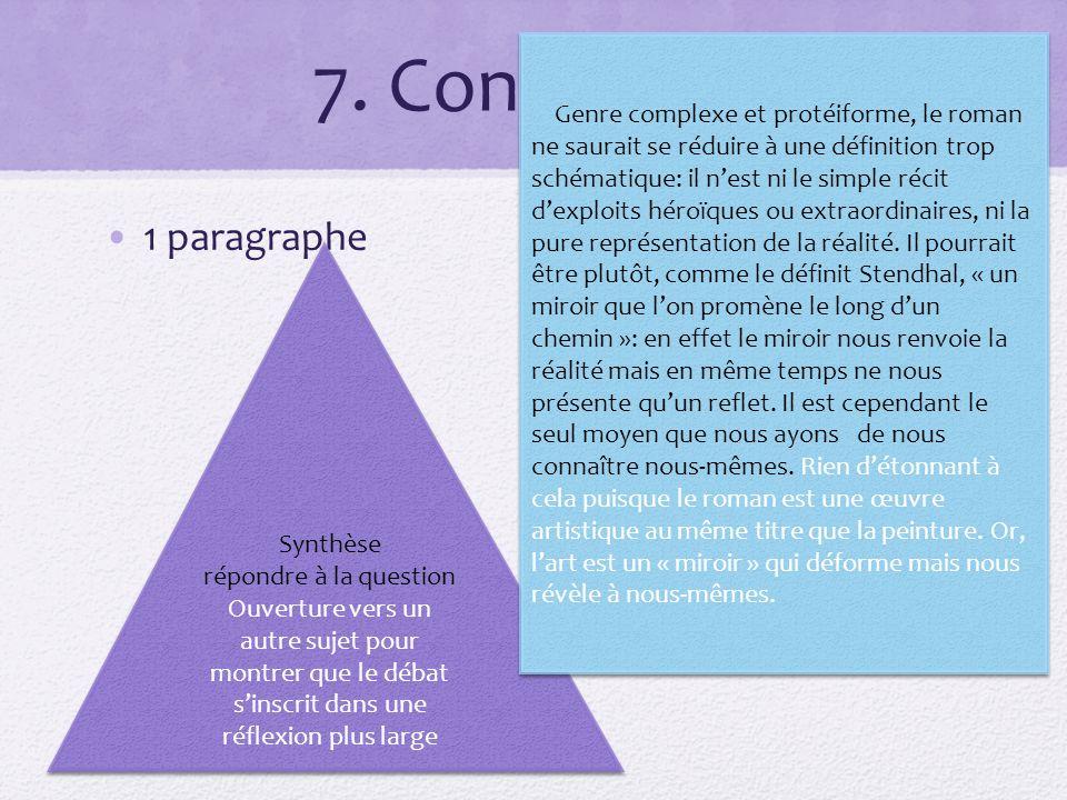 7. Conclusion 1 paragraphe