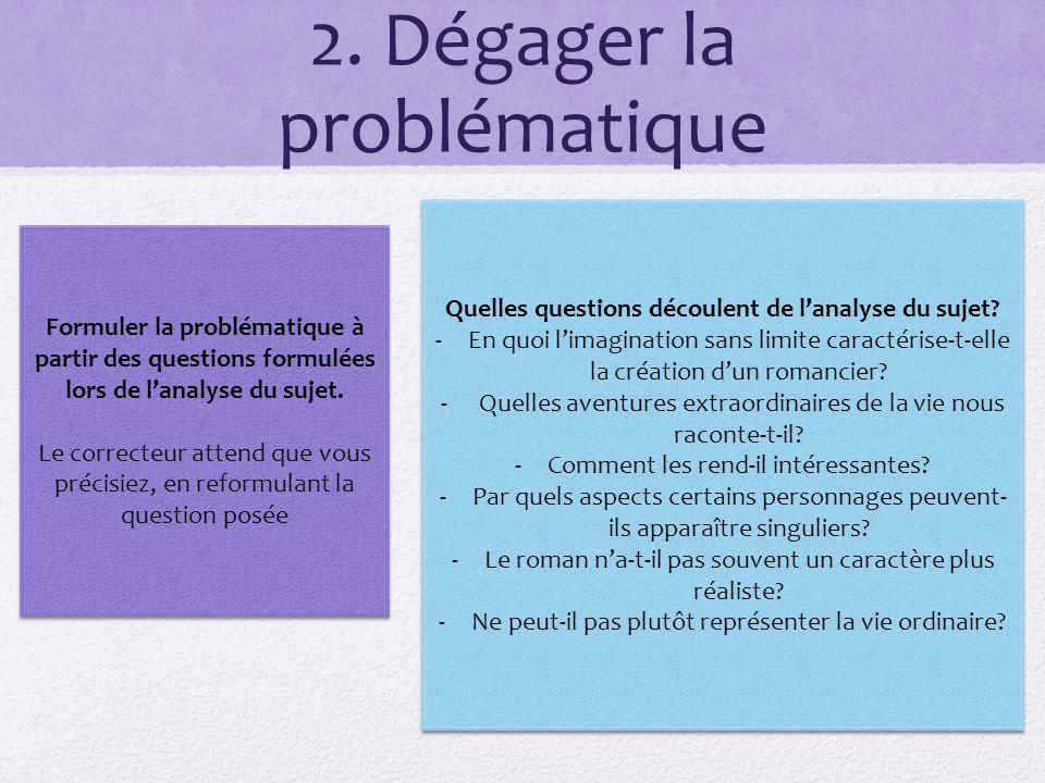 2. Dégager la problématique