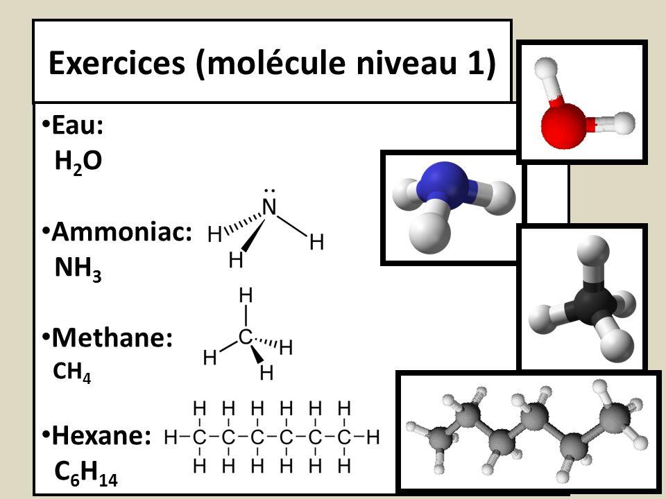 Exercices (molécule niveau 1)