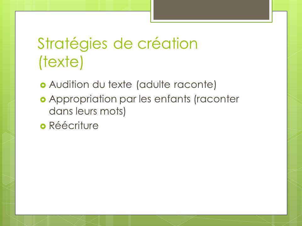 Stratégies de création (texte)