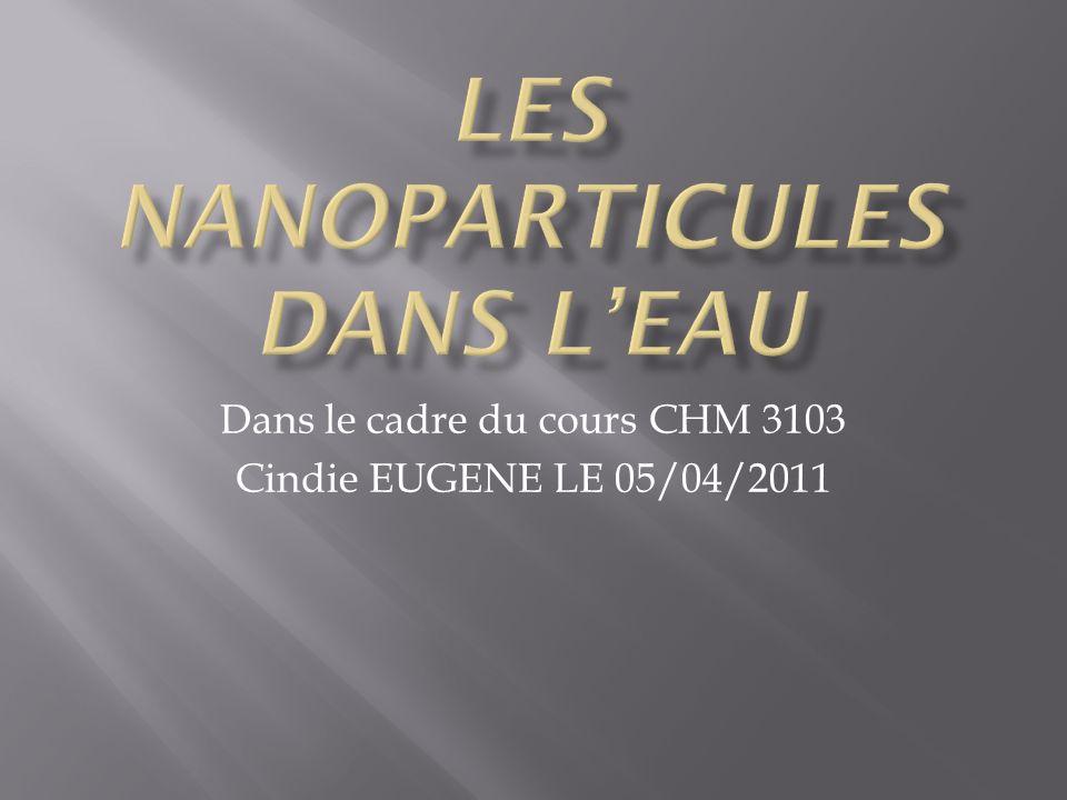 Les nanoparticules dans l'eau