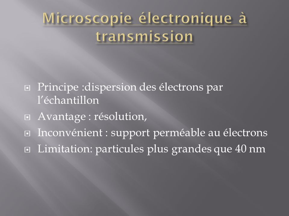 Microscopie électronique à transmission