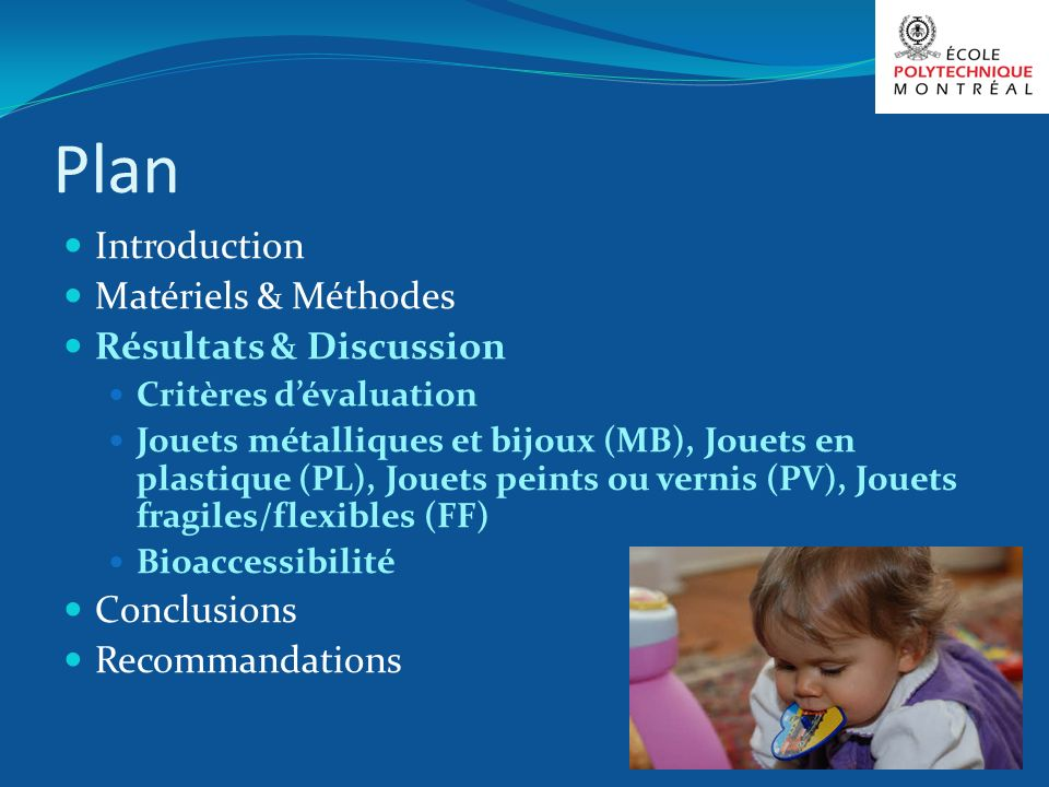 Plan Introduction Matériels & Méthodes Résultats & Discussion