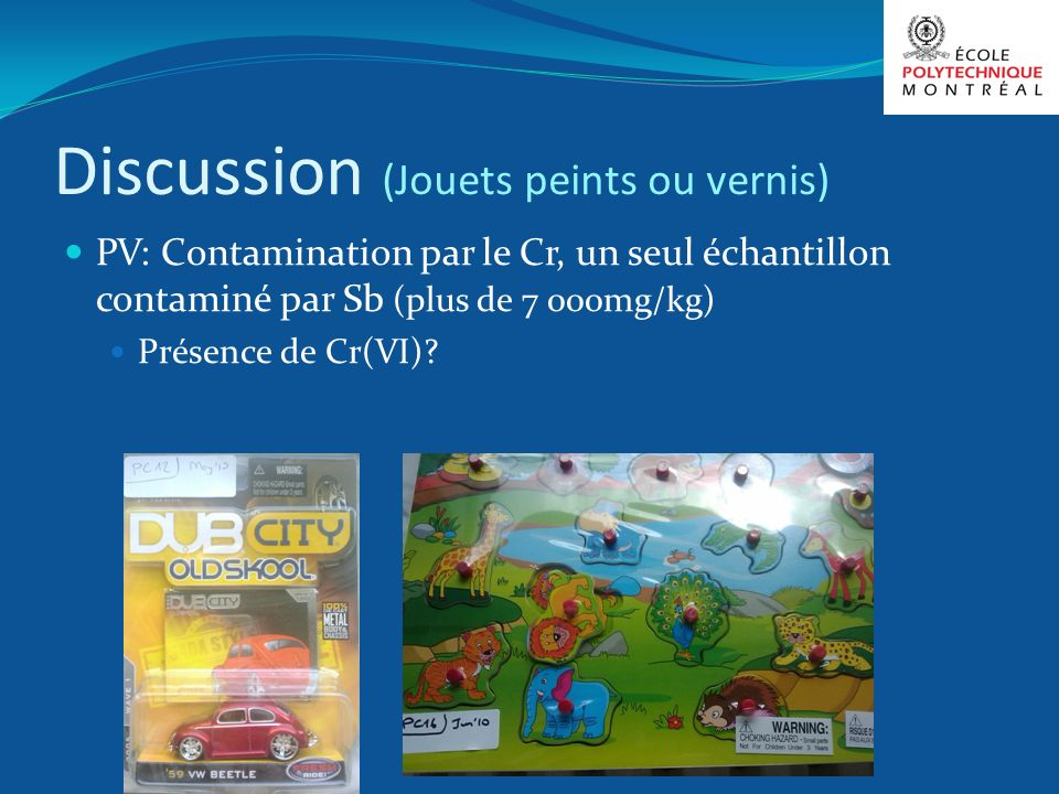 Discussion (Jouets peints ou vernis)