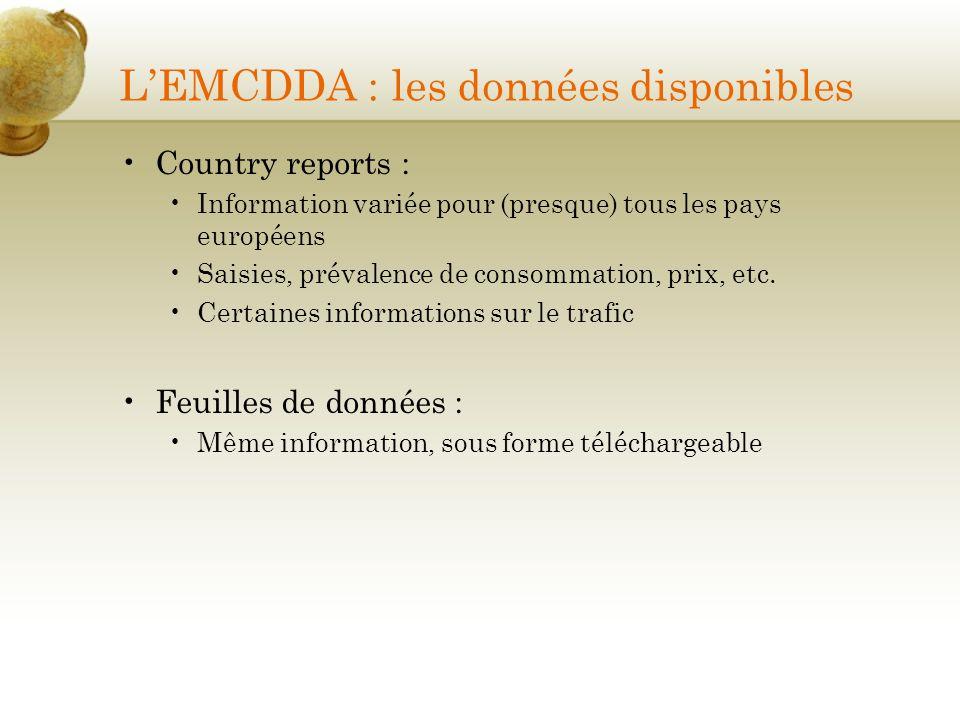 L'EMCDDA : les données disponibles
