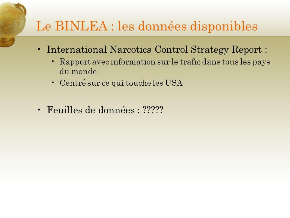 Le BINLEA : les données disponibles