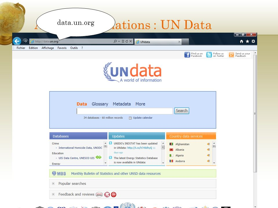 Autres informations : UN Data
