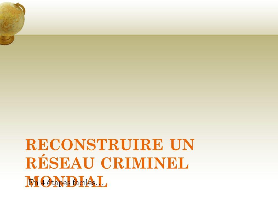 Reconstruire un réseau criminel mondial