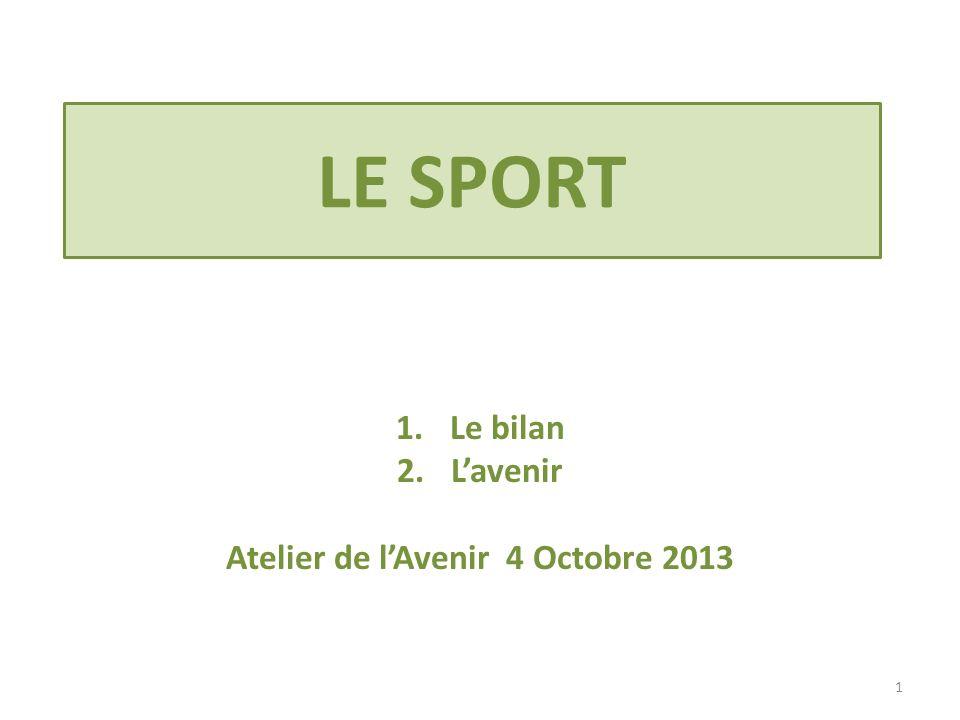 Le bilan L'avenir Atelier de l'Avenir 4 Octobre 2013