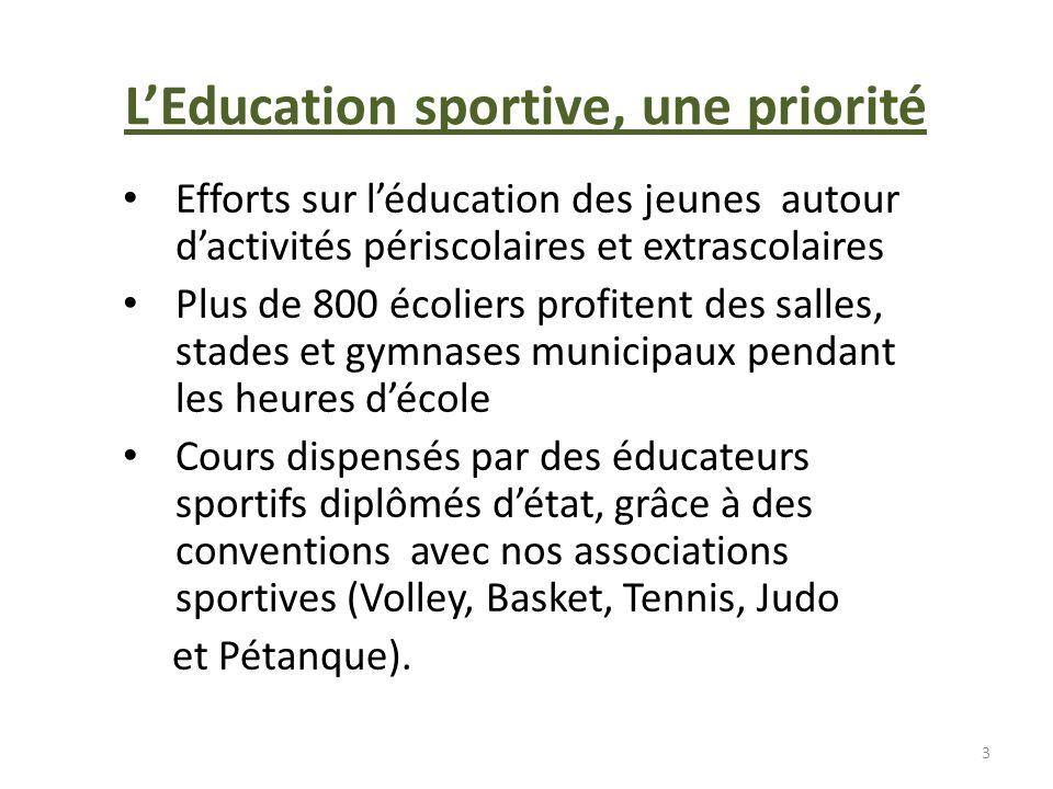 L'Education sportive, une priorité