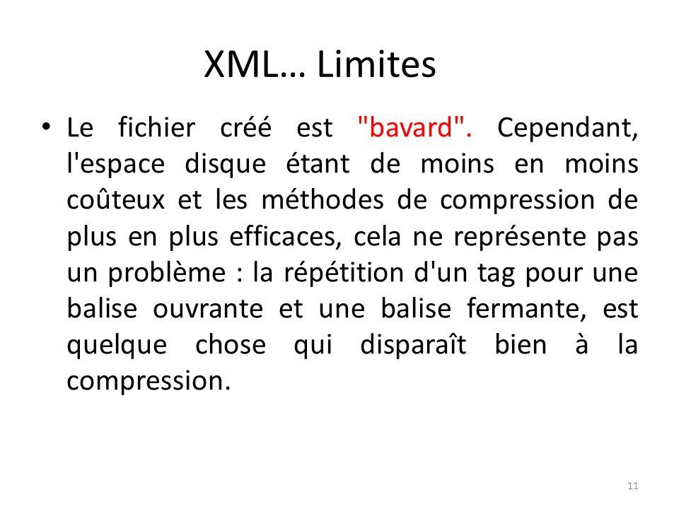 XML… Limites