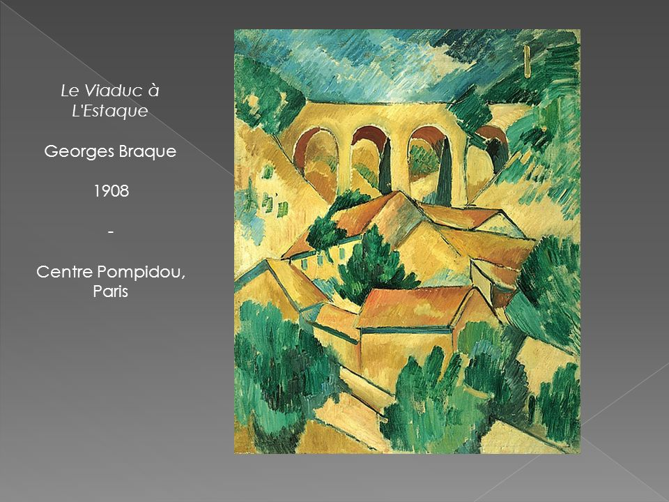 Le Viaduc à L Estaque Georges Braque 1908 - Centre Pompidou, Paris