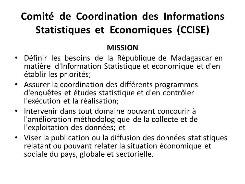 Comité de Coordination des Informations Statistiques et Economiques (CCISE)