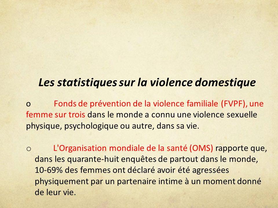 Les statistiques sur la violence domestique