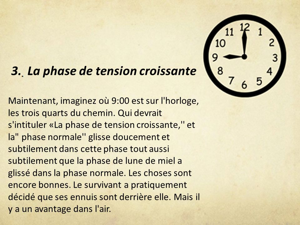 3. La phase de tension croissante