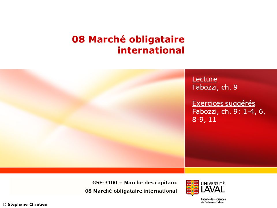 08 Marché obligataire international