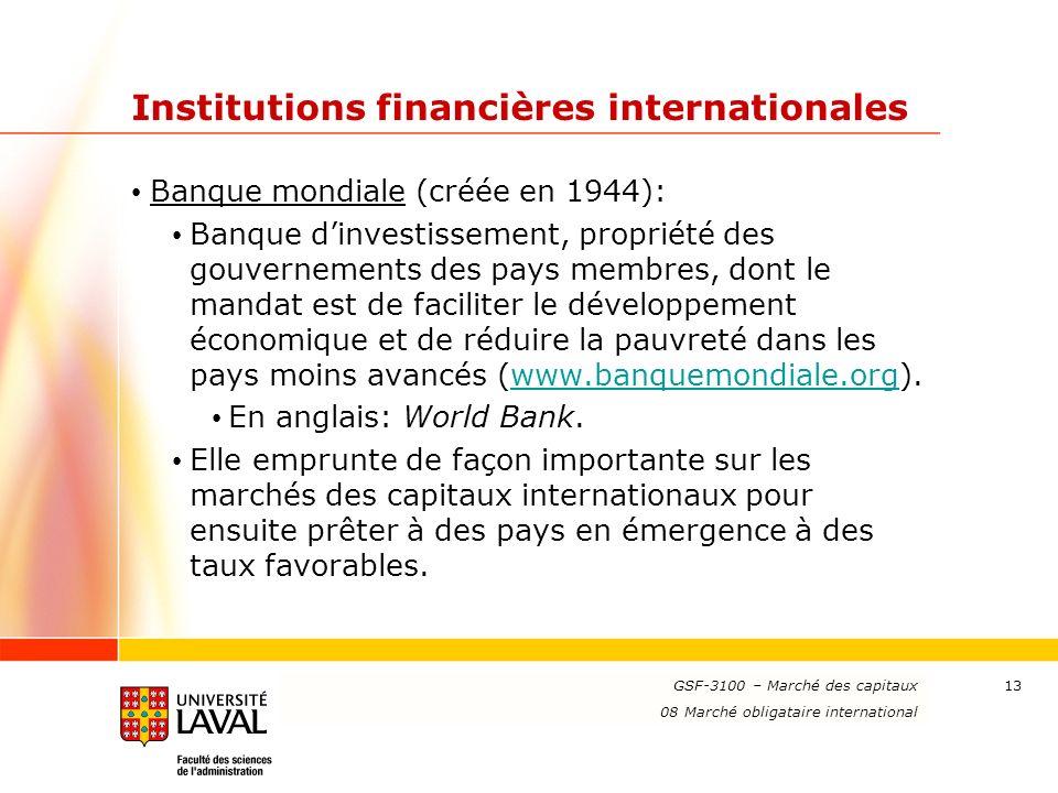 Institutions financières internationales