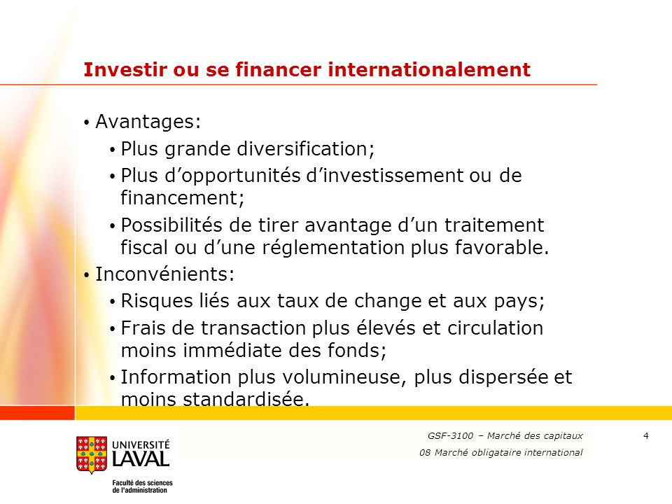 Investir ou se financer internationalement