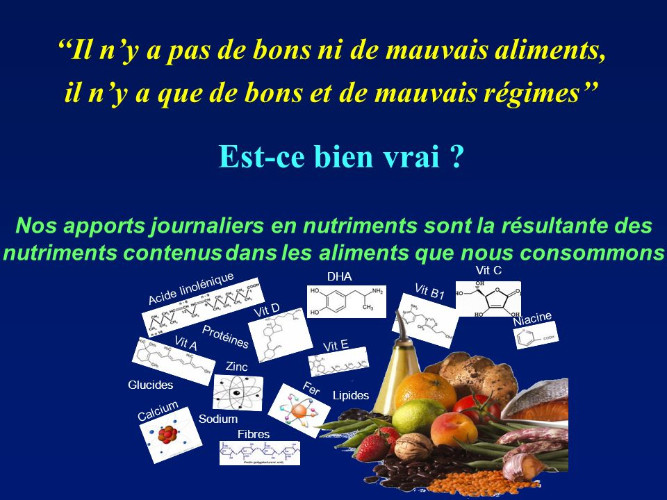 Est-ce bien vrai ''Il n'y a pas de bons ni de mauvais aliments,