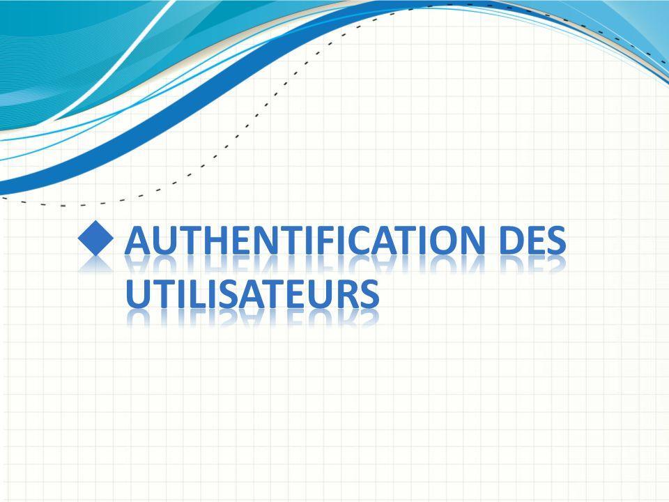 Authentification des utilisateurs