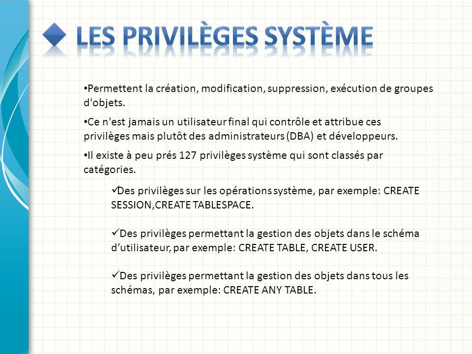 Les privilèges système