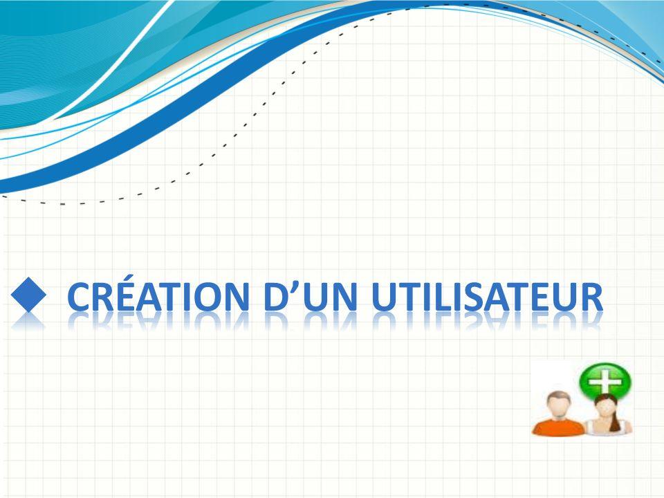 Création d'un utilisateur