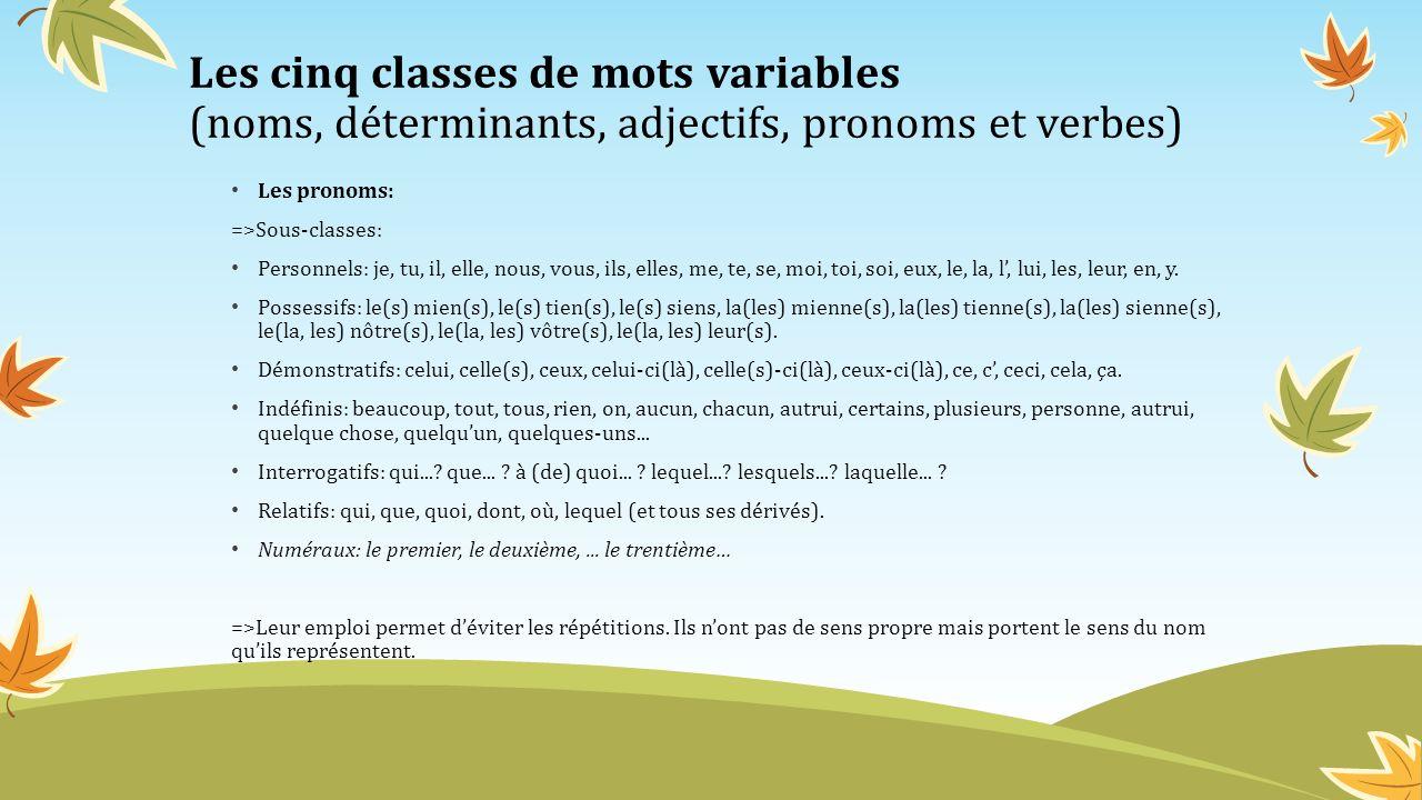 Les classes des mots ppt t l charger for Portent verbe