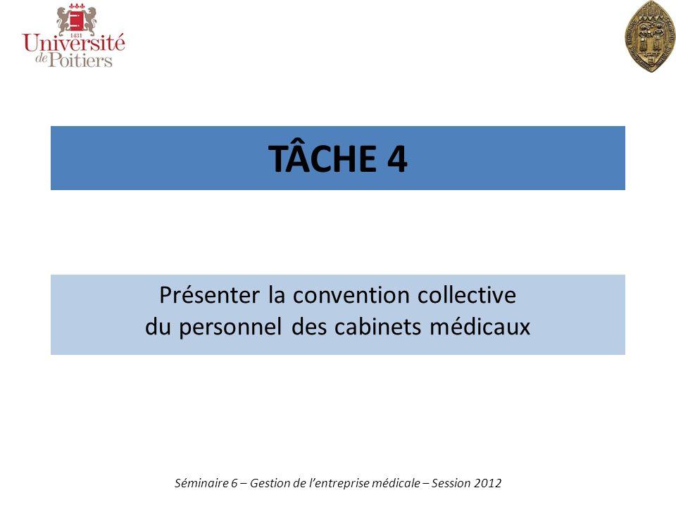 Présenter la convention collective du personnel des cabinets médicaux