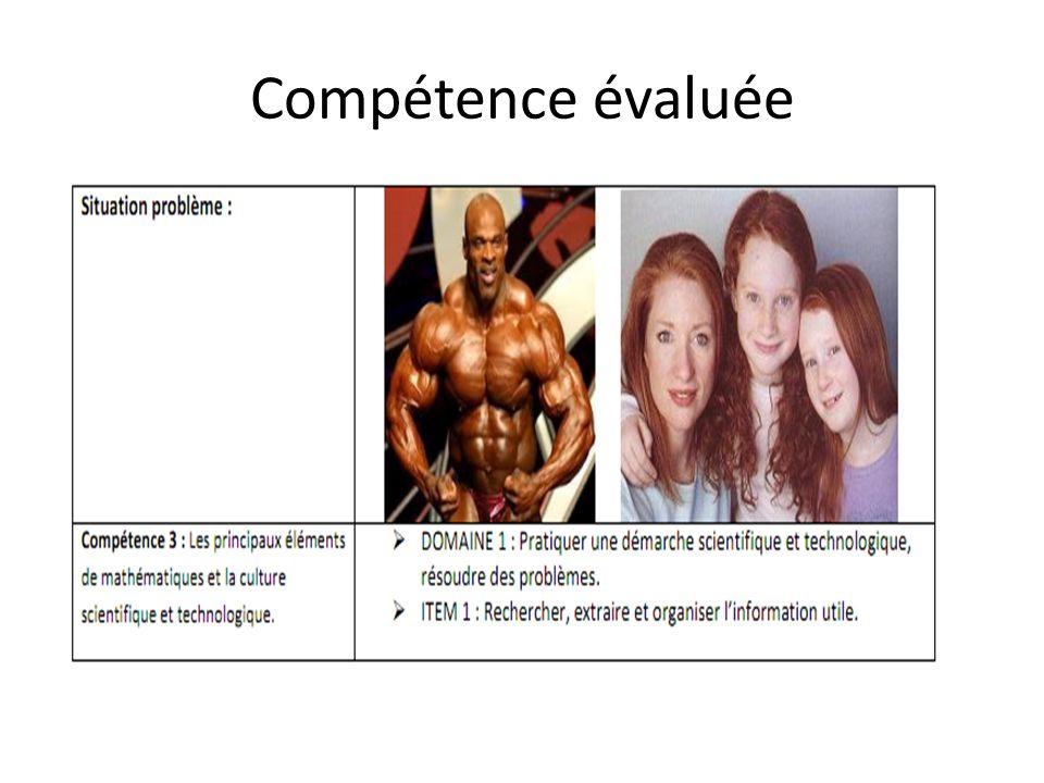 Compétence évaluée