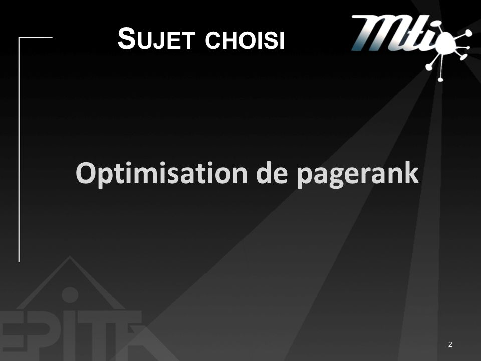 Optimisation de pagerank