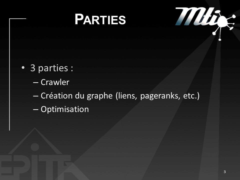 Parties 3 parties : Crawler