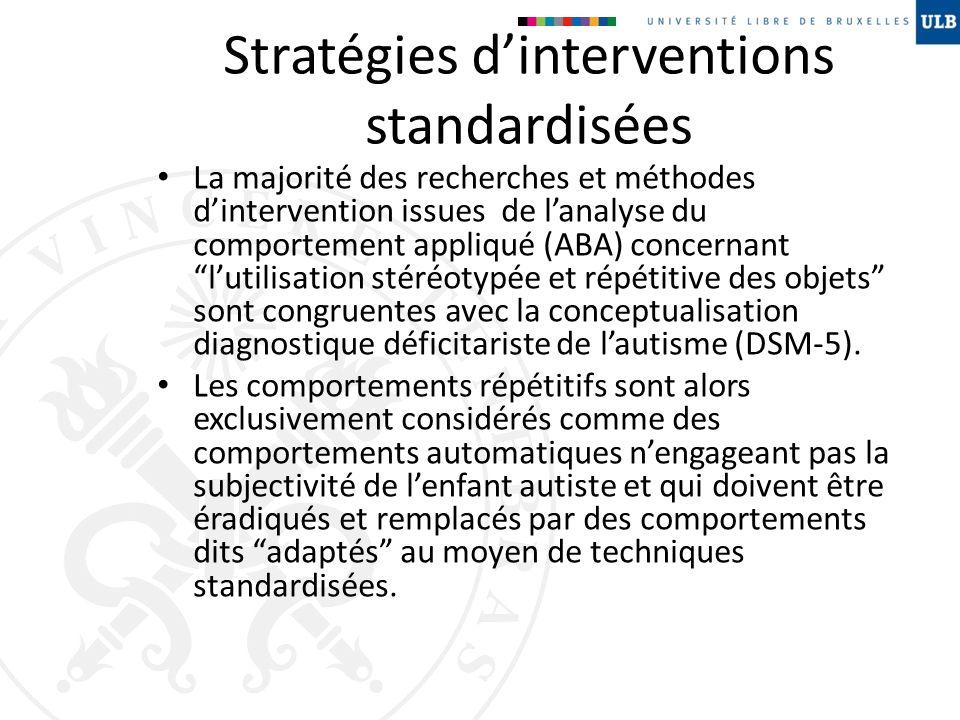 Stratégies d'interventions standardisées