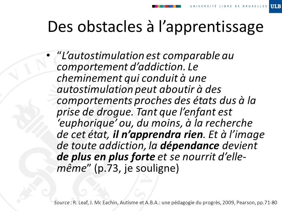 Des obstacles à l'apprentissage