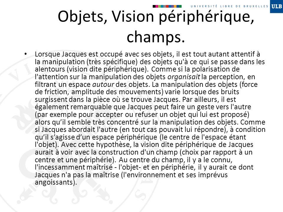 Objets, Vision périphérique, champs.