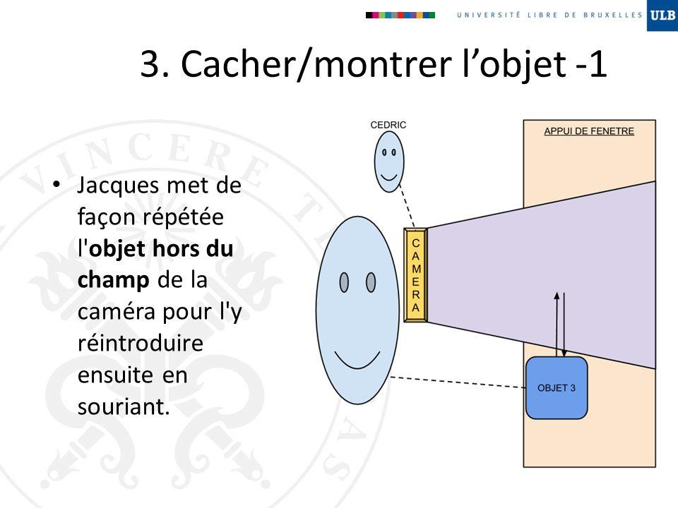 3. Cacher/montrer l'objet -1