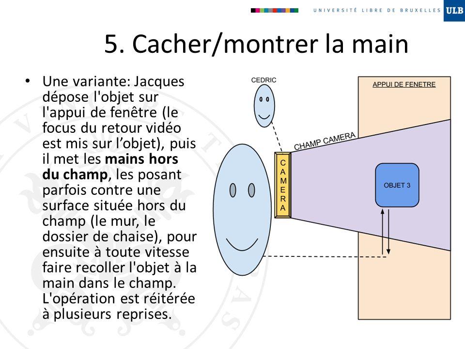 5. Cacher/montrer la main