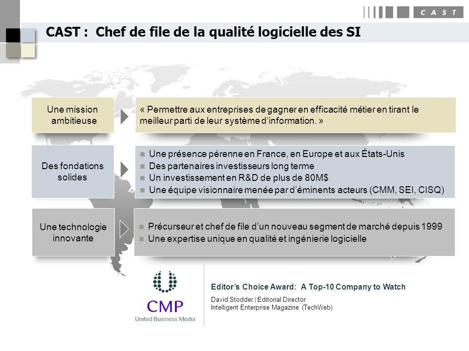 CAST : Chef de file de la qualité logicielle des SI